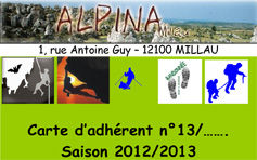 Carte adherent alpina